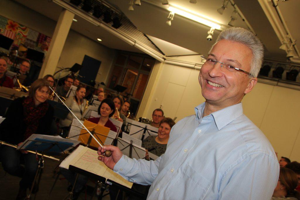 Seit 15 Jahren Dirigent im Musikverein Verl: Dietmar Kay im Januar 2020